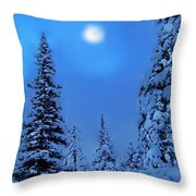 Moonlight  Through The Twilight Haze Throw Pillow