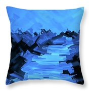 Moonlight Trek Throw Pillow