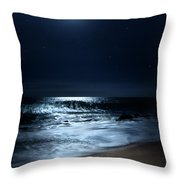 Moonlit Coconut Throw Pillow