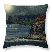Moonlit Cove Throw Pillow
