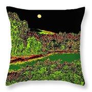Moonlit Kaloya Park Throw Pillow