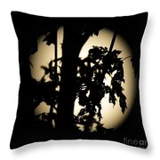 Moonlit Leaves No 1 Throw Pillow