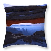 Moonlit Mesa Throw Pillow