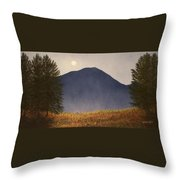 Moonlit Mountain Meadow Throw Pillow