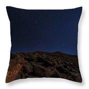 Moonlit Night, Atacama Desert, Chile Throw Pillow
