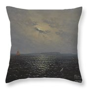 Moonlit Night By Ruegen Throw Pillow