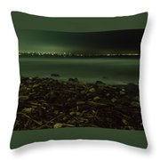 Moonlit Night - The Point Throw Pillow