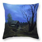 Moonlit Path Throw Pillow