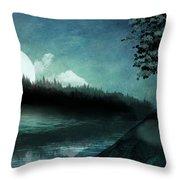 Moonlit Peace Throw Pillow