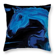 Moonlit Run Throw Pillow