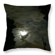 Moonlit Strip Throw Pillow