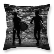 Moonlit Stroll Throw Pillow