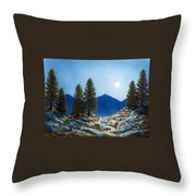 Moonlit Trail Throw Pillow