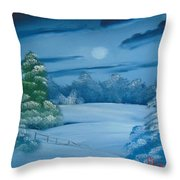 Moonlit Tranquility Throw Pillow