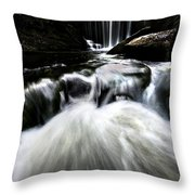 Moonlit Waterfall Throw Pillow