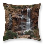 Moonlit Waterfall Throw Pillow