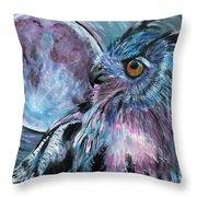 Moonlit Wisdom  Throw Pillow