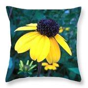 Moonlit Yellow Throw Pillow