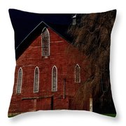 Moonlite 1900 Barn Throw Pillow by Stephanie Calhoun