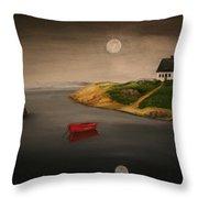 Moonlite Night Throw Pillow