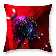 Moonlite Poppy Drops Throw Pillow