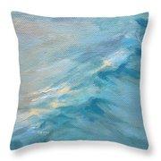 Moonlit Waves Throw Pillow