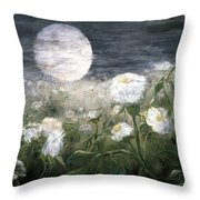 Moonpoppies Throw Pillow