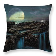 Moonrise 4 Billion Bce Throw Pillow by Don Dixon