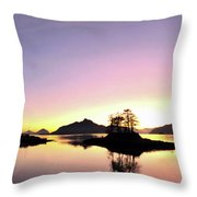 Moonrise And Sunset Throw Pillow
