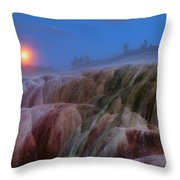 Moonrise At Mammoth Throw Pillow