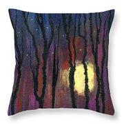 Moonrise In December Throw Pillow