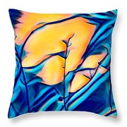 Moonrise In The Branches Throw Pillow