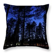 Moonrise In The Woods Throw Pillow by Margaret Pitcher