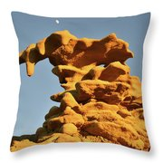 Moonrise Over Fantasy Canyon Hoodoo Throw Pillow
