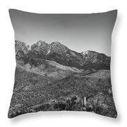 Moonrise Over Four Peaks Throw Pillow