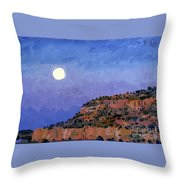 Moonrise Over Gallup Throw Pillow