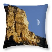 Moonrise Over Grand Canyon Throw Pillow