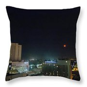Moonrise Over New Orleans Throw Pillow