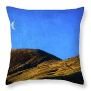 Moonrise Over Queenstown Throw Pillow