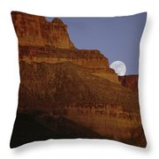 Moonrise Over The Grand Canyon Throw Pillow