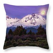 Moonset At Dawn Throw Pillow