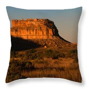 Moonset At Fajada Butte Throw Pillow