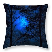 Moonshine 03 Bad Moon Rising Throw Pillow