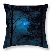 Moonshine 10 Blue Sky Throw Pillow