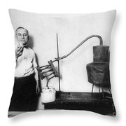Moonshine Distillery, 1920s Throw Pillow