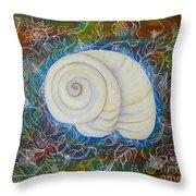 Moonsnail Lace Throw Pillow
