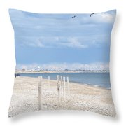 Moonstone Beach Throw Pillow