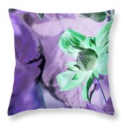 Moonwalk Clematis Throw Pillow