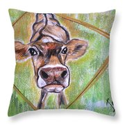 Moooo Throw Pillow