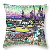 Moorage Throw Pillow